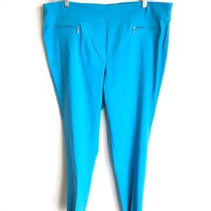 Ashley Stewart Plus Sz Blue Full Length Pants NWOT